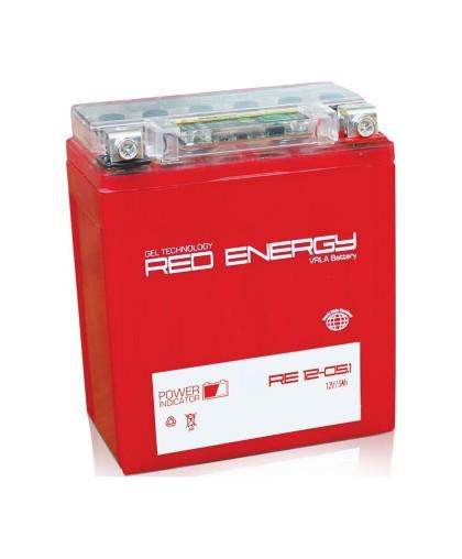 Аккумулятор 12В 5Ач RED ENERGY RE1205.1 (12N5-3B) (гелевый, красный) (обратн.полярн) (119*60*129мм)