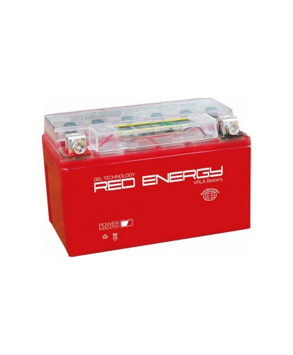 Аккумулятор 12В12Ач RED ENERGY RE1212 (YTX12-BS) (гелевый, красный) (прямая полярн) (150*85*131мм)