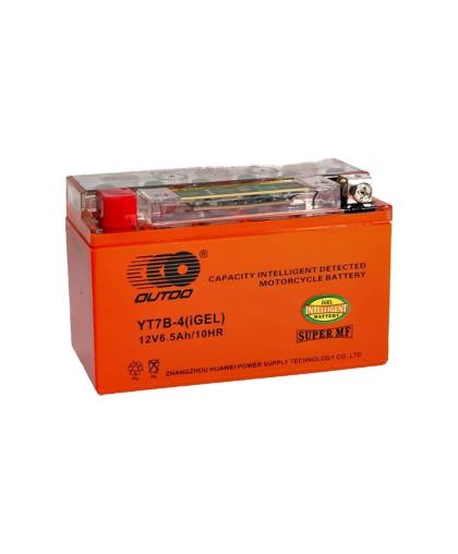 Аккумулятор OUTDO 12В 7 (6,5) А/ч YT7В-4 iGEL, (150 х 66 х 95) прямая полярность