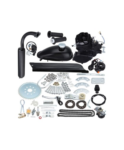 Двигатель веломотор F80 (80см3) комплект для установки черный