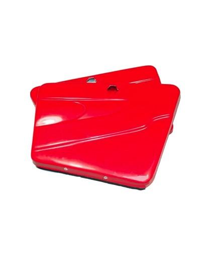 Крышки бардачка (пара), красные (стеклопластик) тюнинг ИЖ