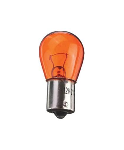 Лампа 12В 21Вт S25 BA15s на сигнал поворота, стоп сигнал (2510) желтая