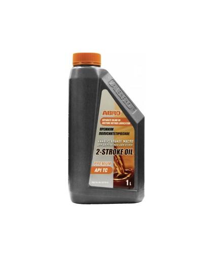 Масло полусинтетическое ABRO PREMIUM API TC (1л) для 2-х тактных двигателей (полусинтетическое)