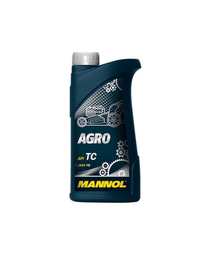 Масло MANNOL AGRO API TC JASO FB (1л) синтетическое, для 2-х тактных двигателей с/х техники