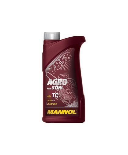 Масло MANNOL AGRO for Stihl API TC JASO FB (1л) 2-х тактное, синтетическое, красное 7858