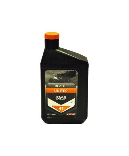 Масло минеральное REZOIL UNITEC HD SAE30 SJ/CF (0,946.л) для 4-тактной мототехники