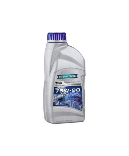 Масло трансмиссионное RAVENOL TSG SAE 75W-90 GL-4 (1л) полусинтетическое, для механических КПП мотоблоков, снегоходов и т.п.
