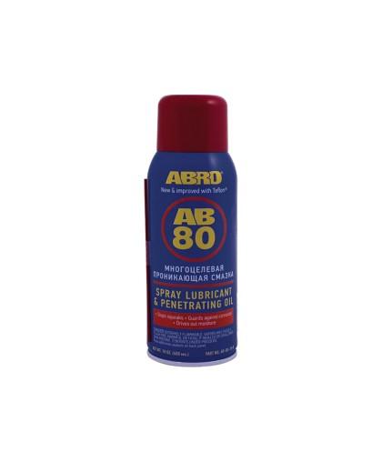 Смазка cпрей многоцелевая, проникающая ABRO AB-80-10-R (400мл.)
