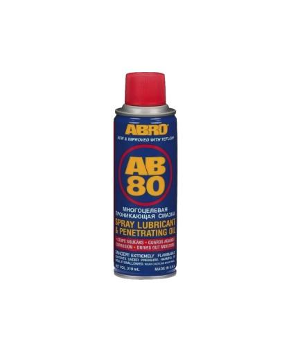 Смазка cпрей многоцелевая проникающая ABRO AB-80-210 ( 210 мл.)