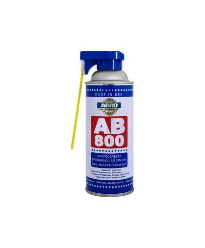 Смазка cпрей многоцелевая, проникающая ABRO PLATINUM AB-800-210 с насадкой (400мл.)